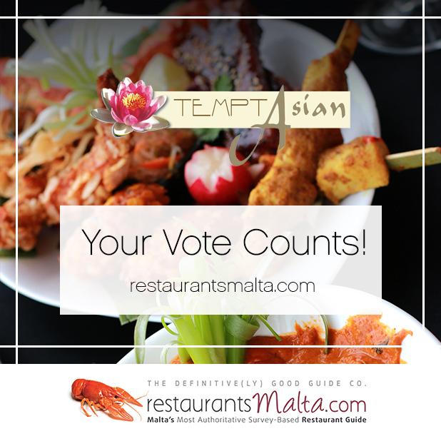TemptAsian voting for restaurant malta